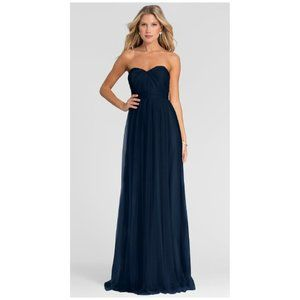 NEW Jenny Yoo Collection Annabelle Navy Blue Tulle